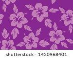 hibiscus flowers seamless... | Shutterstock .eps vector #1420968401
