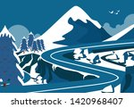 natural landscape view of the... | Shutterstock .eps vector #1420968407