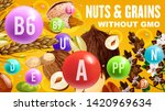 natural nuts and organic...   Shutterstock .eps vector #1420969634