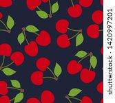cherry seamless pattern. red... | Shutterstock .eps vector #1420997201