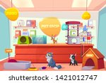 pet shop with home animals ... | Shutterstock .eps vector #1421012747