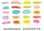 hand drawn set of colorful... | Shutterstock .eps vector #1421024714