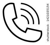 phone icon flat style isolated...