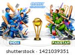 illustration of batsman player... | Shutterstock .eps vector #1421039351