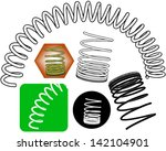 springs clip art | Shutterstock .eps vector #142104901