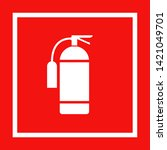 icon of fire extinguisher... | Shutterstock .eps vector #1421049701