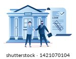businessmen handshake ... | Shutterstock .eps vector #1421070104