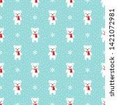 christmas seamless pattern.... | Shutterstock .eps vector #1421072981