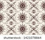 seamless floral pattern....   Shutterstock .eps vector #1421078864