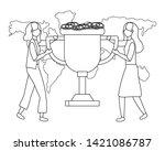 businesswomen avatar cartoon...   Shutterstock .eps vector #1421086787