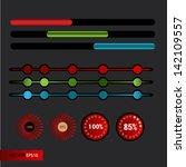 set of loading bars   vector web | Shutterstock .eps vector #142109557