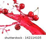 cherry juice splash | Shutterstock . vector #142114105