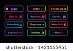 gradient action buttons. neon... | Shutterstock .eps vector #1421155451