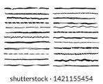 sketch lines. pencil textured... | Shutterstock .eps vector #1421155454
