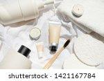natural cosmetic cream   serum  ... | Shutterstock . vector #1421167784