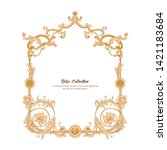 border  frame  label in baroque ... | Shutterstock .eps vector #1421183684