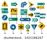 arrows direction. road signs...   Shutterstock .eps vector #1421186267