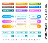 web colored buttons. internet...