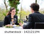 businesspeople having business... | Shutterstock . vector #142121194