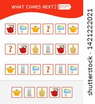 what comes next educational...   Shutterstock .eps vector #1421222021