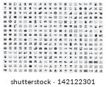 collection of different icons | Shutterstock .eps vector #142122301