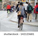 Bike crowd - stock photo