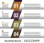 vector numbered banners. modern ... | Shutterstock .eps vector #142123699