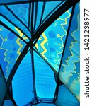 top view of the tent with rain...   Shutterstock . vector #1421238977