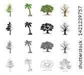 vector illustration of tree ... | Shutterstock .eps vector #1421239757