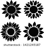 Sunflower Set  Isolated  For...