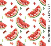 seamless pattern with... | Shutterstock .eps vector #1421247197