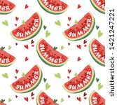 seamless pattern with... | Shutterstock .eps vector #1421247221