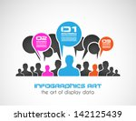 original style infographic with ... | Shutterstock .eps vector #142125439