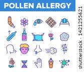 pollen allergy symptoms vector...   Shutterstock .eps vector #1421255621