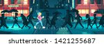 internal energy  positive mood  ... | Shutterstock .eps vector #1421255687