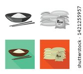 vector design of crop and... | Shutterstock .eps vector #1421255957