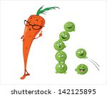 cartoon vegetables with... | Shutterstock .eps vector #142125895