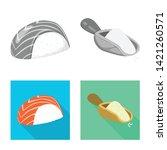 vector design of crop and... | Shutterstock .eps vector #1421260571