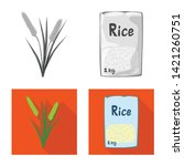 vector illustration of crop and ... | Shutterstock .eps vector #1421260751