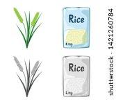 vector design of crop and... | Shutterstock .eps vector #1421260784