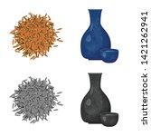 vector design of crop and... | Shutterstock .eps vector #1421262941