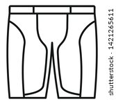 bike shorts icon. outline bike...   Shutterstock .eps vector #1421265611