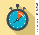 stopwatch icon. flat... | Shutterstock .eps vector #1421267147