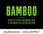 bamboo style font design ... | Shutterstock .eps vector #1421269967