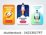 vector illustration launching... | Shutterstock .eps vector #1421301797