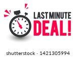 vector illustration last minute ... | Shutterstock .eps vector #1421305994