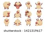 sheep icons set. cartoon set of ...   Shutterstock .eps vector #1421319617