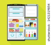 open fridge icon. flat...   Shutterstock .eps vector #1421319854