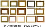 gold antique picture frame... | Shutterstock . vector #1421339477