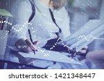 multi exposure of woman's... | Shutterstock . vector #1421348447